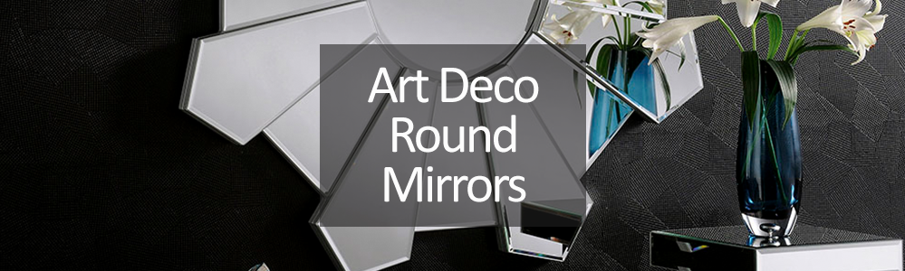 Art Deco Round and Oval Mirrors
