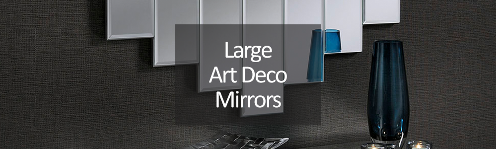 Large Art Deco Wall Mirror