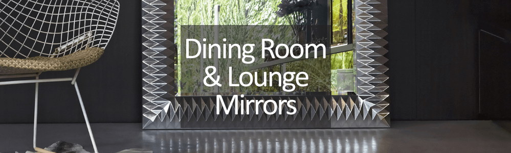 decorative lounge and dining room mirror