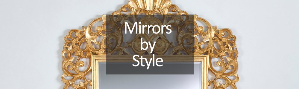 Shop for mirrors by style - Decorative, Art Deco and Frameless Mirrors