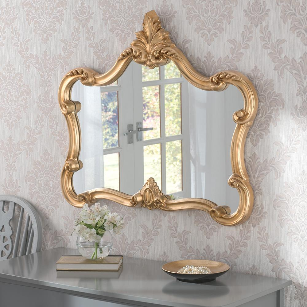 Crested Large Decorative Ornate Framed Wall Mirror 155 00 Mirror Shop Uk