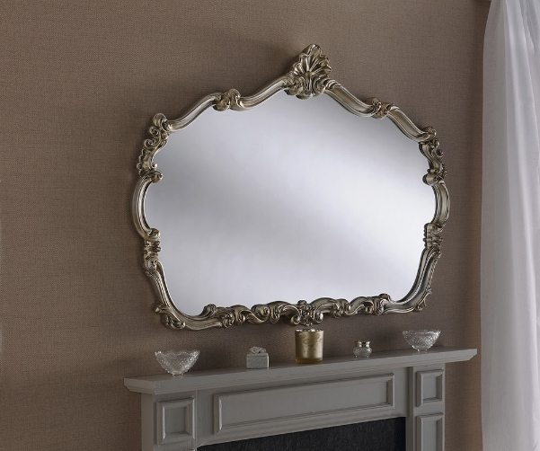 Crested Shaped Large Ornate Framed Wall, Large Wall Mirror Uk