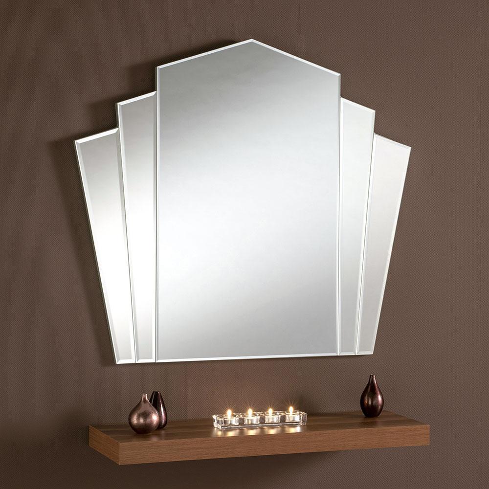 Fan Styled Frameless Bevelled Art Deco Wall Mirror 299 00 Mirror Shop Uk