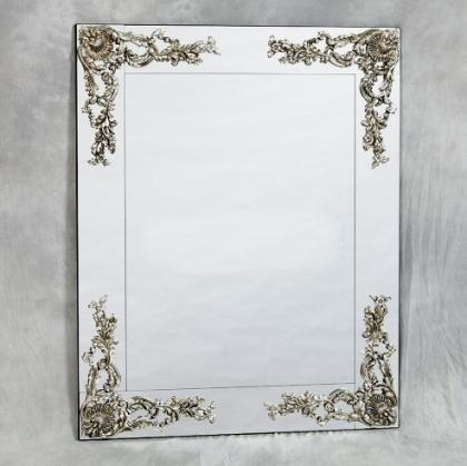 Frameless Decorative Bevelled Wall Mirror With Corner