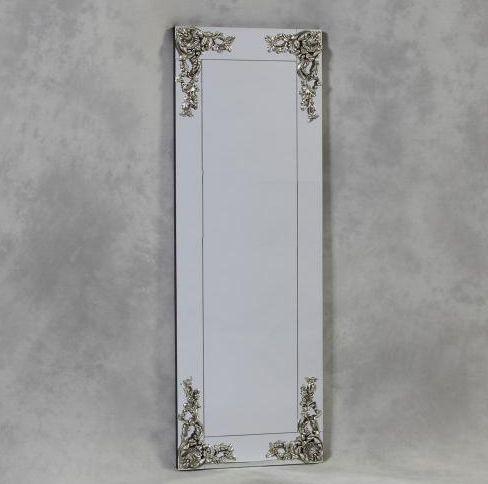 Long Frameless Decorative Corner, Wall Leaning Full Length Mirror