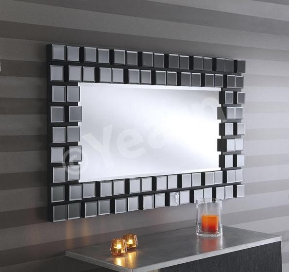 Mona Extra Large Multi Facet Black Wall Mirror 540 00 Mirror Shop Uk
