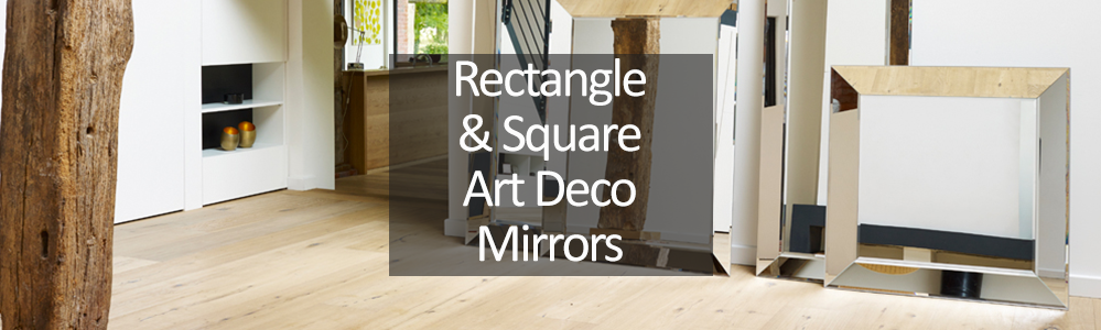 Rectangle and Square Art Deco Mirrors