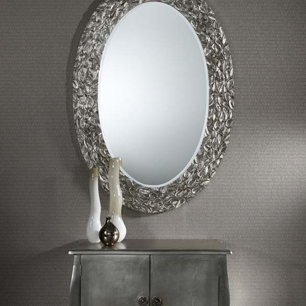 gold framed decorative mirror